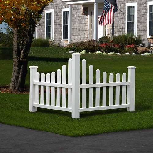 Picket Corner Fence