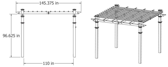 Arcadia Pergola Specifications