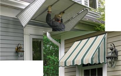 Aluminum Fabric Window Awnings Nuimage Awnings Window Coverings