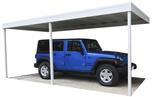 Wall Attached Steel Carport