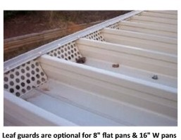 aluminum pan leaf guard