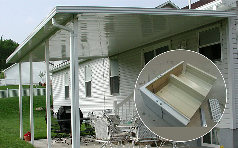 Aluminum Patio Covers Flat Pan